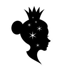 graphic head women vector image
