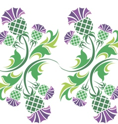 ornament with flowers of thistle vector image vector image