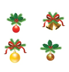 Set of Christmas tree decorations vector image