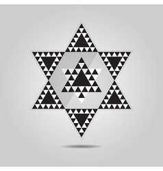 abstract geometrical triangle tile hexagram icon vector image vector image