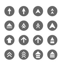 arrow design sign icons set vector image