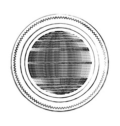 blurred silhouette heraldic round stamp with vector image