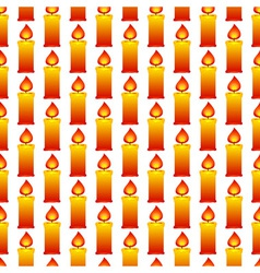 Candles pattern vector image vector image