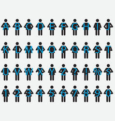 Pictogram people holding letters vector image vector image