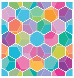 Seamless honeycomb pattern vector image