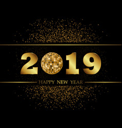 2019 new year black background vector image