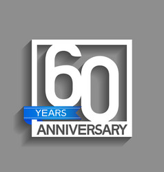 60 years anniversary logotype with white color vector