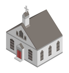 american church icon isometric style vector image