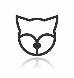 Animal Portrait Line Icon Fox vector