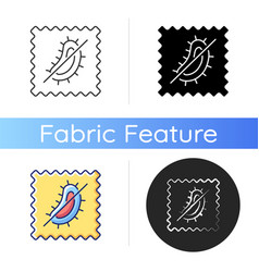 Antimicrobial fabric feature icon vector