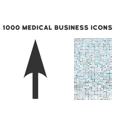 Arrow Axis Y Icon with 1000 Medical Business vector image
