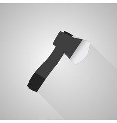 Axe icon on gray background vector