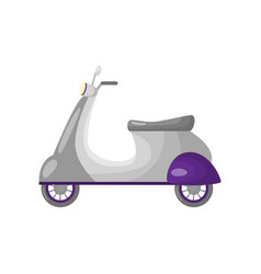 beautiful colored two-wheeled scooter servants for vector image