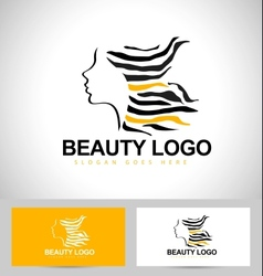 Beauty Female Face Logo vector image