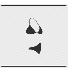 bikini icon black color on transparent vector image