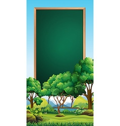 Board template with park in background vector