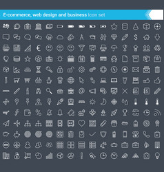 business e-commerce web and shopping icons set vector image