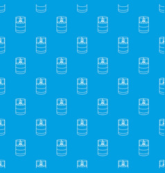 Candle glass pattern seamless blue vector