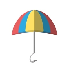 cartoon s umbrella beach icon vector image
