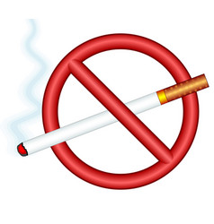 cigarette ban sign vector image