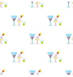 cocktails icon in cartoon style isolated on white vector image