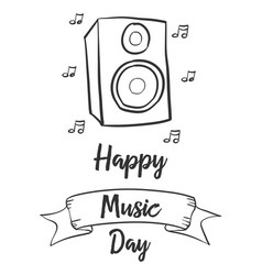 collection celebration music day style vector image