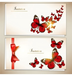 collection gift cards and invitations vector image