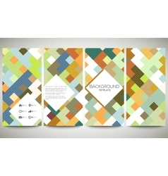 Colored banners collection flyer layouts vector image