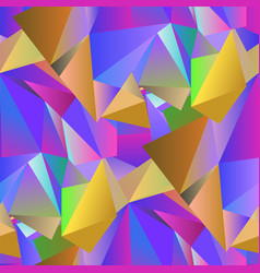 Colorful crystal seamless pattern vector