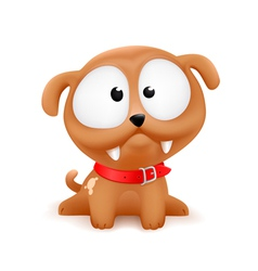 cute cartoonish puppy vector image