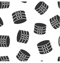 data center icon seamless pattern background vector image