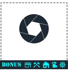 Diaphragm icon flat vector
