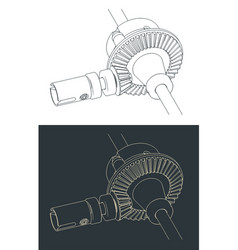 Differential drawings vector