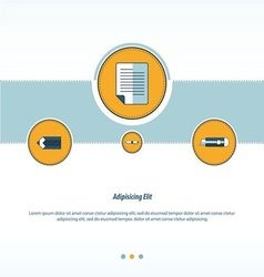 document paper Concept design vector image