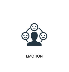 emotion icon simple element emotion vector image