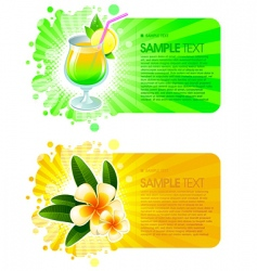 exotic resorts frames vector image