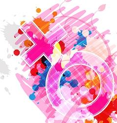 female symbol on art background vector image