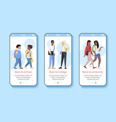 First september onboarding mobile app screen vector