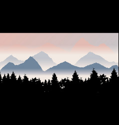 Fog mountains vector