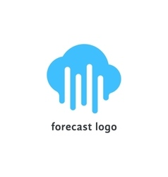 forecast logo with melted blue cloud vector image