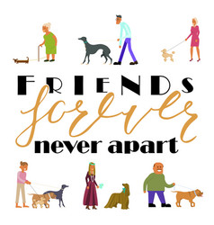 friends forever never apart vector image