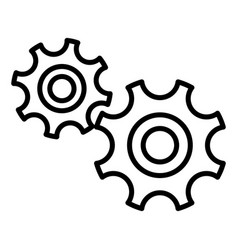 Gear wheel design vector