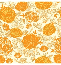 Golden art flowers seamless pattern background vector image