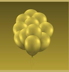 golden balloons background vector image