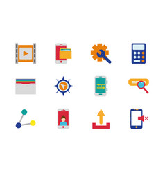 internet things technology network icons set vector image