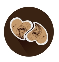 Isolated coffee icon vector image