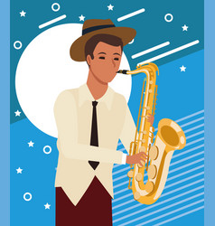 Jazz music band design vector