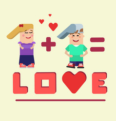 love math characters vector image