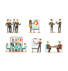 Managers at a meeting in office vector