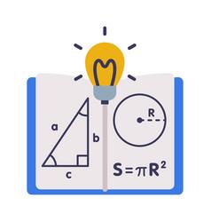 mathematics lesson symbols education schooling vector image